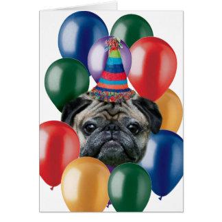 Perro del barro amasado del feliz cumpleaños tarjetas