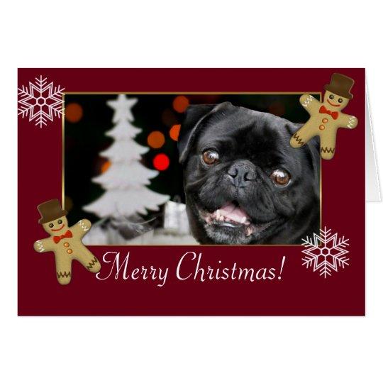 Perro del barro amasado del navidad tarjeta de felicitación