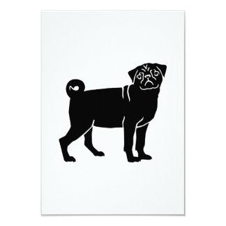 Perro del barro amasado invitación 8,9 x 12,7 cm