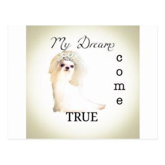 perro del boda postal