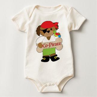 Perro del Co-Pirata Body Para Bebé