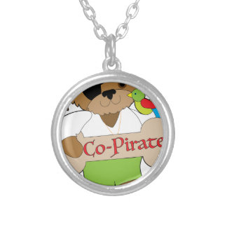 Perro del Co-Pirata Collar Plateado