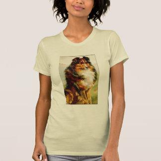 Perro del collie del vintage camisetas