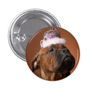 Perro del cumpleaños chapa redonda de 2,5 cm