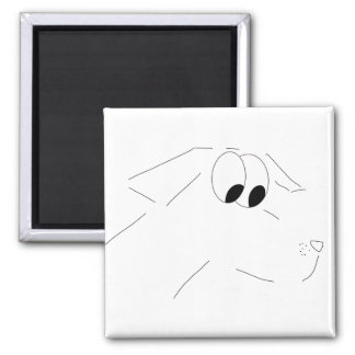 perro del dibujo animado imán cuadrado