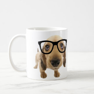 Perro del empollón taza de café