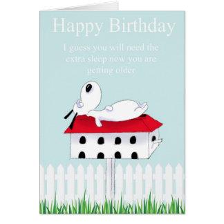 perro del feliz cumpleaños tarjeta de felicitación