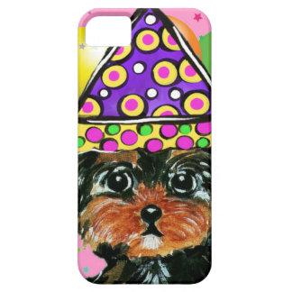Perro del fiesta de Yorkie Poo Funda Para iPhone SE/5/5s