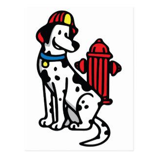 Perro del fuego postal