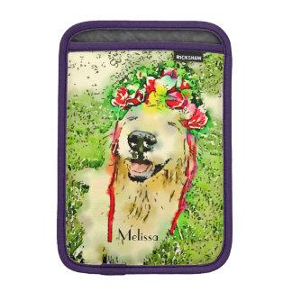 Perro del golden retriever con la acuarela de la funda para iPad mini