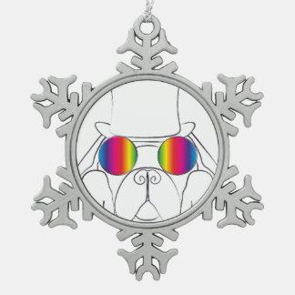 Perro del Hippie del arco iris Adorno