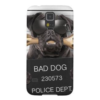 Perro del Mugshot, barro amasado divertido, barro Carcasa Galaxy S5