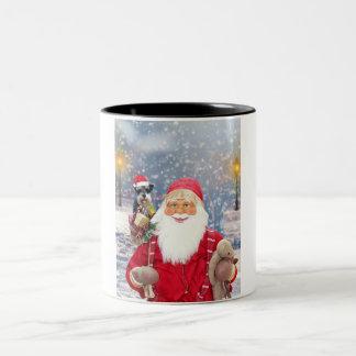 Perro del Schnauzer miniatura del navidad de Papá Taza Bicolor