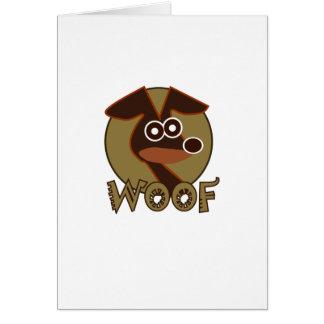 Perro del tejido tarjeta de felicitación