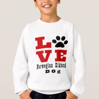 Perro Designes de Elkhound del noruego del amor Sudadera
