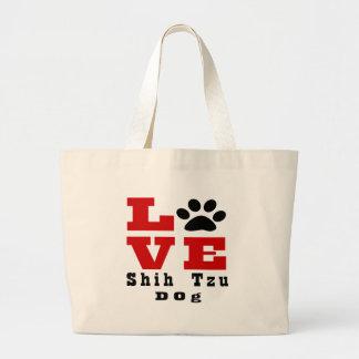 Perro Designes de Shih Tzu del amor Bolsa De Tela Grande