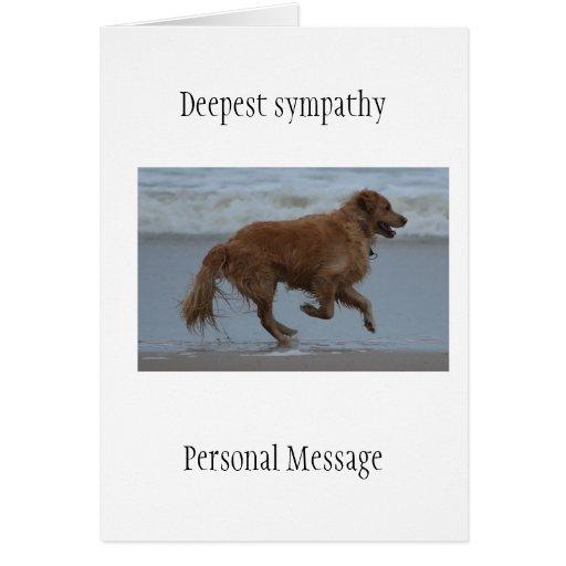 Perro difunto en golden retriever cariñoso de la m tarjetas
