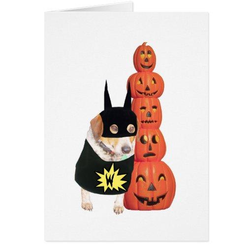 Perro divertido Halloween Felicitacion