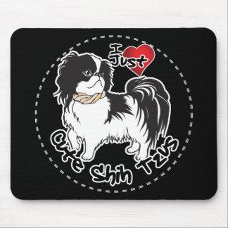 Perro divertido y lindo adorable feliz de Shih Tzu Alfombrilla De Ratón