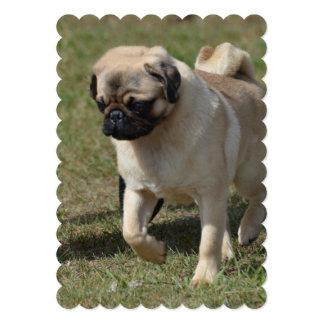 Perro dulce del barro amasado invitación 12,7 x 17,8 cm