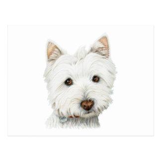 Perro en colores pastel de Westie Postal