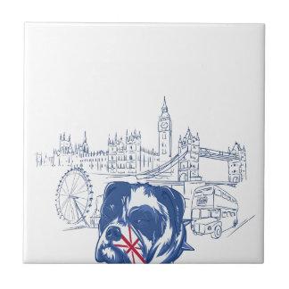 perro en el Reino Unido Azulejo