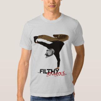 Perro esquimal magnífico asqueroso del break dance camiseta