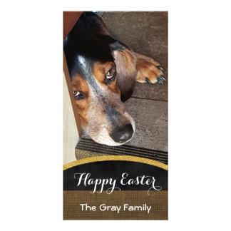 Perro feliz del beagle de la foto DIY del mascota Tarjeta Personal