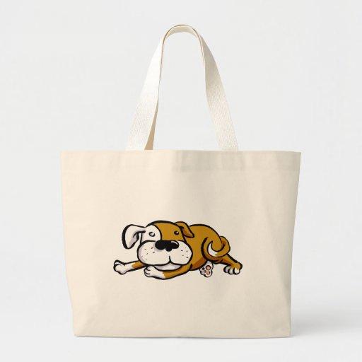 Perro grande del amor bolsas