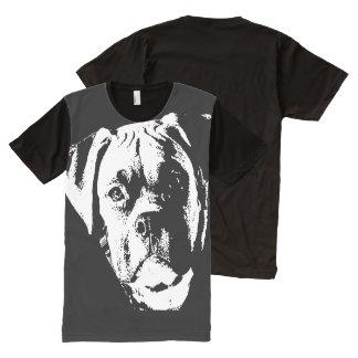 Perro grande, grande camiseta con estampado integral