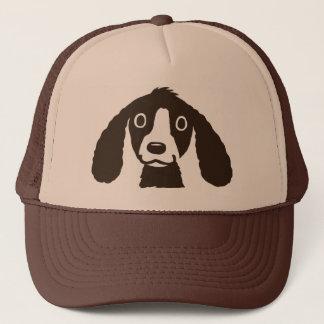 Perro largo de los oídos gorra de camionero