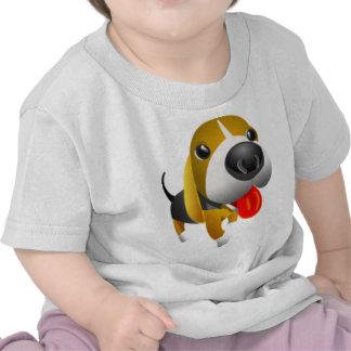 Perro lindo de 3D Basset Hound Camiseta