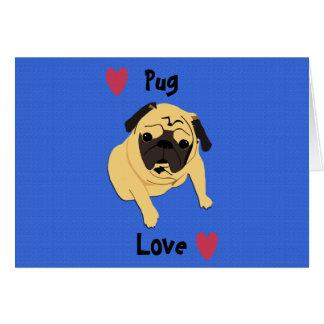 Perro lindo del amor del barro amasado tarjeta de felicitación