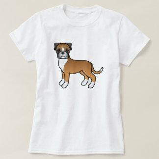 Perro lindo del boxeador del cervatillo del dibujo camiseta