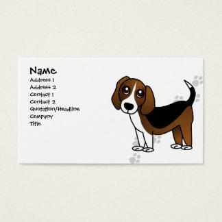 Perro lindo del dibujo animado del beagle tarjeta de negocios