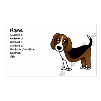 Perro lindo del dibujo animado del beagle plantilla de tarjeta de visita
