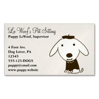 Perro lindo del dibujo animado del perrito tarjetas de visita magnéticas (paquete de 25)