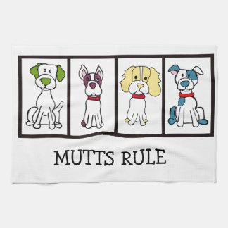 Perro lindo Dishtowel - regla de los Mutts Paño De Cocina