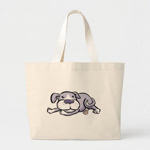 Perro lindo tirado todo hacia fuera bolsas de mano