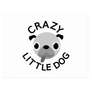 Perro loco del barro amasado pequeño postal