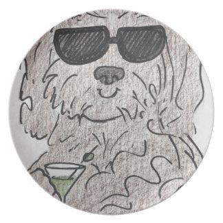 Perro martini de Havanese Platos Para Fiestas