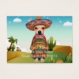 Perro mexicano, chihuahua tarjeta de visita