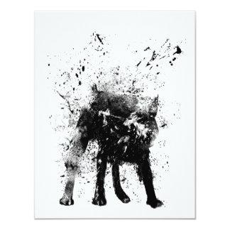 perro mojado invitación 10,8 x 13,9 cm