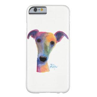 "Perro Nosey ""pensamiento"" por Shirley MacArthur Funda Barely There iPhone 6"