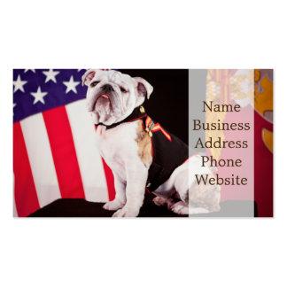 Perro oficial de la mascota de la marina de guerra tarjetas de visita