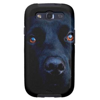 Perro oscuro animal abstracto samsung galaxy s3 protectores