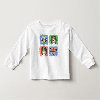 Perro pastor de Shetland Camiseta De Bebé