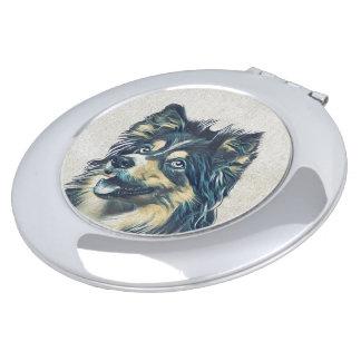 Perro pastor de Shetland que pinta el espejo Espejos De Viaje