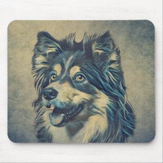 Perro pastor de Shetland que pinta Mousepad Alfombrilla De Ratón