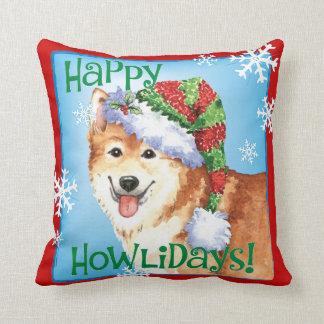 Perro pastor feliz del islandés de Howlidays Cojín Decorativo